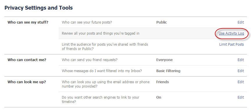 hide friends in facebook
