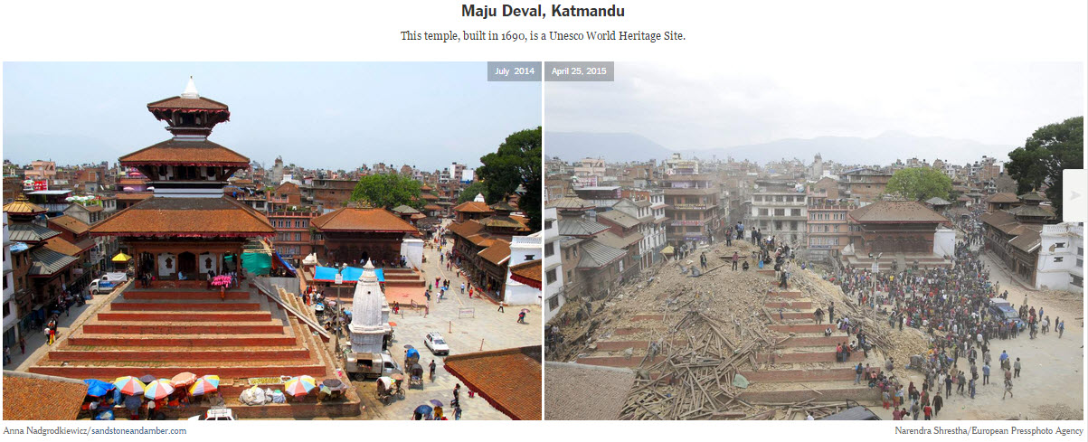 nepal earthquake before and after